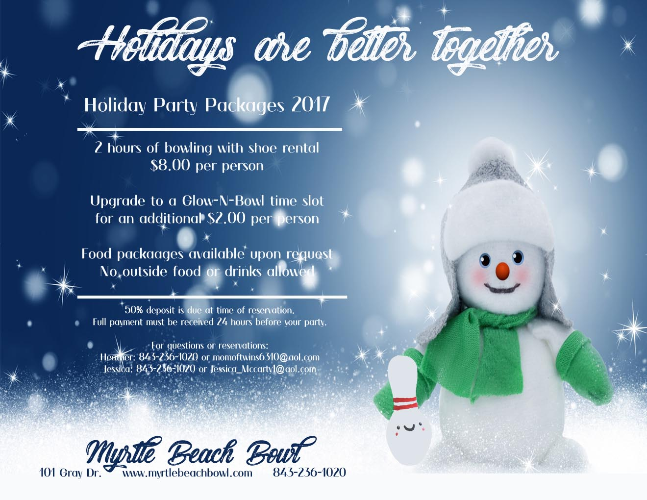 Holiday Parties Flyer