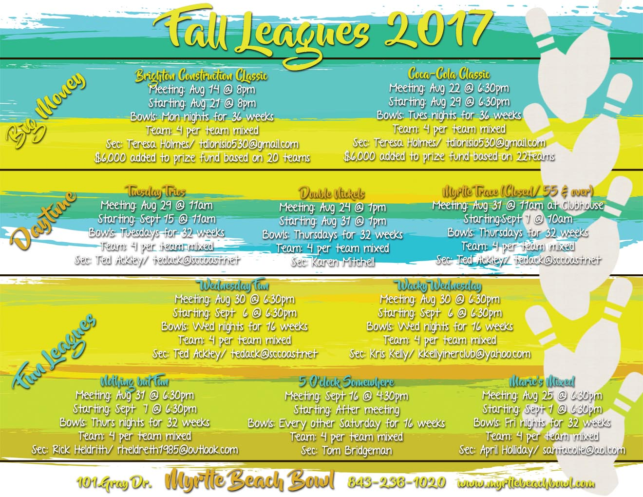 Front of Fall League Flyer