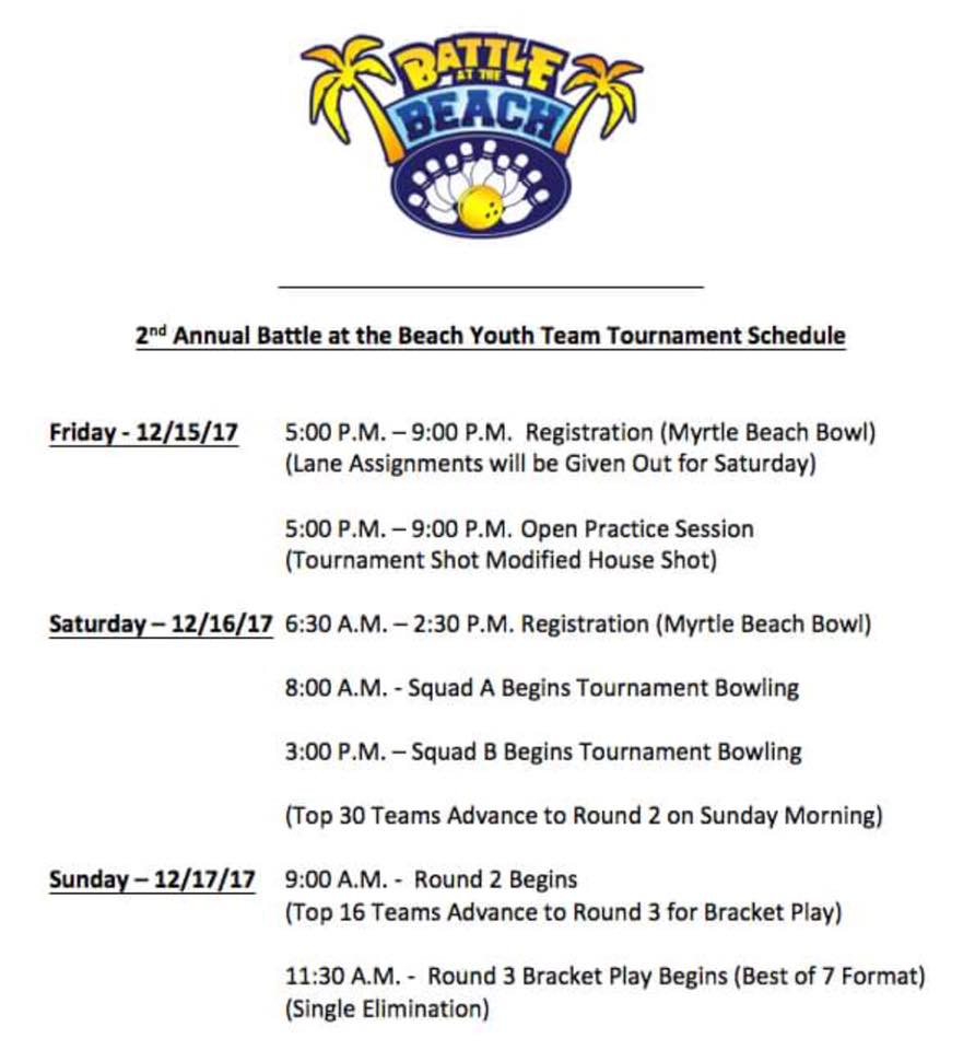 Battle at the Beach Schedule